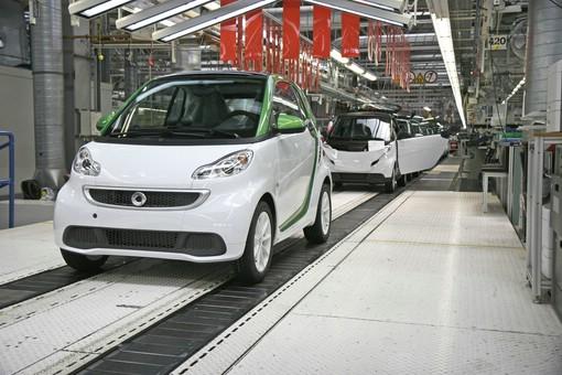 Die Produktion des Smart Fortwo Electric Drive im Werk Hambach