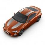 Dr neue Toyota GT86 optional mit Dekorstreifen in Silber
