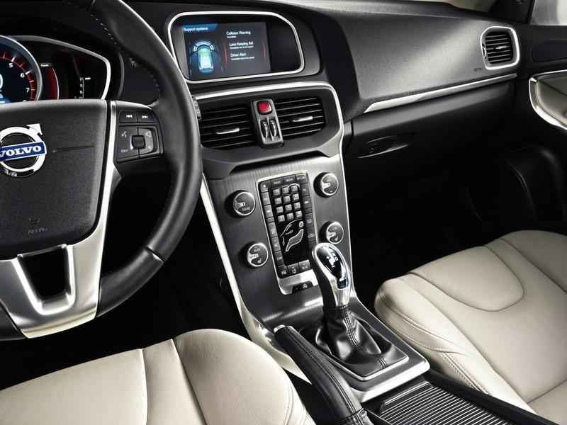 Die Mittelkonsole des Volvo V40