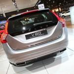 Volvo V60 Plug-in-Hybrid in der Heckansicht