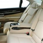 Platzangebot hintere Sitze des BMW 750 Li