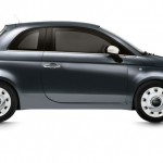 Fiat 500-Spndermodell Happy Birthday in der Seitenansicht