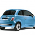 Fiat 500 Spndermodell Happy Birthday in Blau