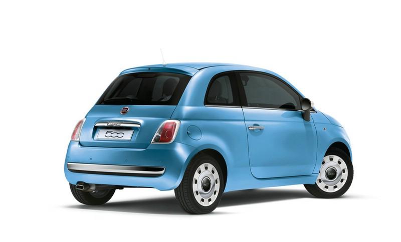 Fiat 500 Spndermodell Happy Birthday in Blau