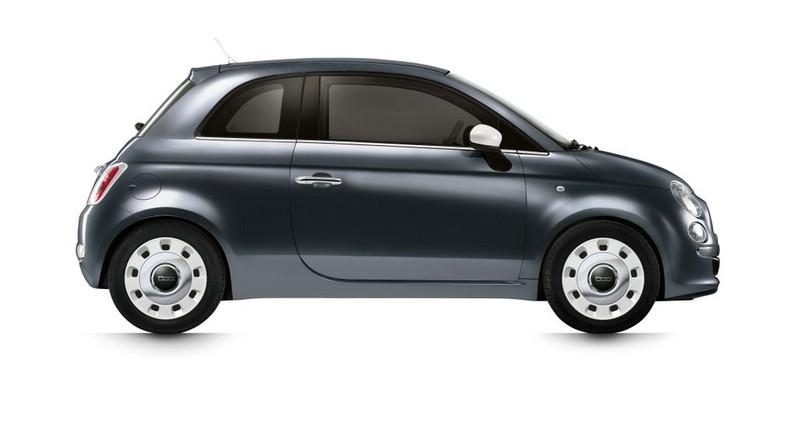 Fiat 500-Spndermodell Happy Birthday in der Seitenansicht