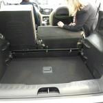 Der Kofferraum des Fiat 500L mit 400 Liter Volumen