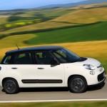 Die Seitenpartie des Fiat 500L