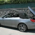 Das Dach des Lancia Flavia Cabrio öffnet sich