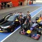 Die Formel 1 Stars mit dem Renault Megane R.S. Red Bull Racing