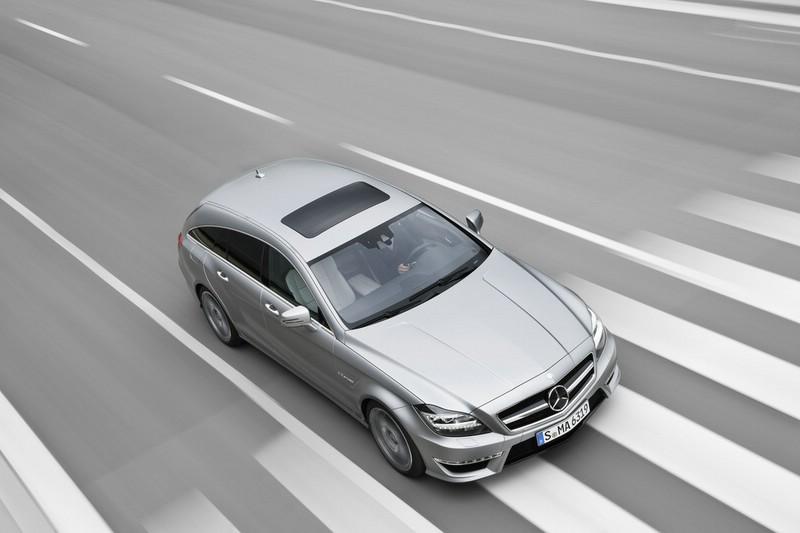 Mercedes CLS 63 AMG Shooting Brake aus der Vogelperspektive