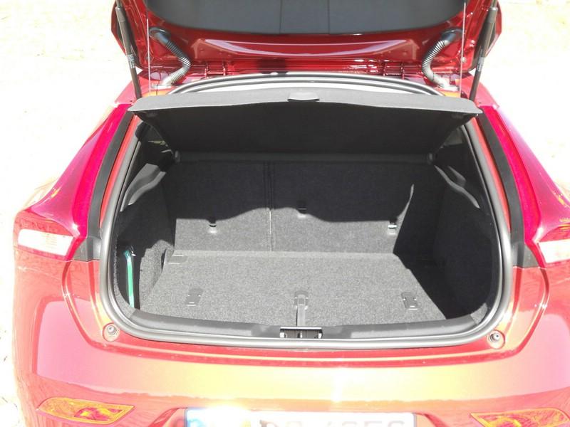 Der Kofferraum des Volvo V40