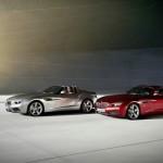Der BMW Zagato Roadster und das Coupe nebeneinander