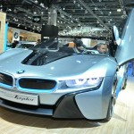 BMW i8 Spyder Concept Car in Moskau