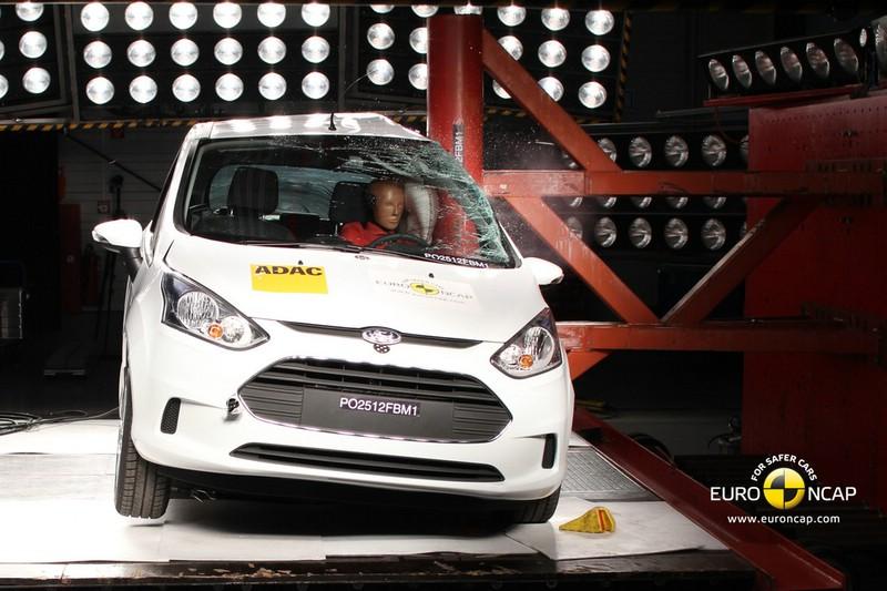 Der Ford B-Max beim Crashtest von EuroNCAP