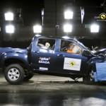 Der Isuzu D-Max beim Crashtest von EuroNCAP