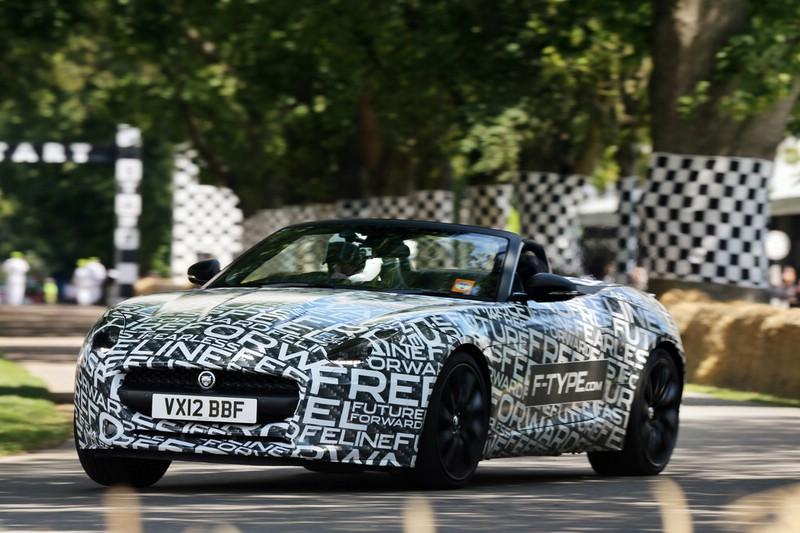 Jaguar F-Type in der Frontansicht