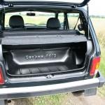 Der Kofferraum des Lada 4x4