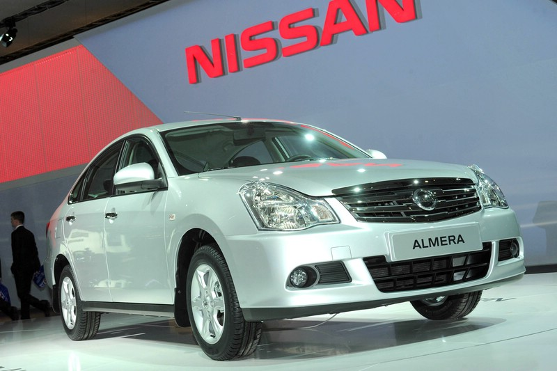 Nissan Almera auf der Moskau-Messe 2012