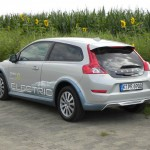 Die Heckpartie des Volvo C30 Electric