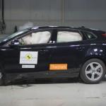 Der Volvo V40 beim Crashtest von EuroNCAP