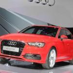 Roter Audi A3 2013 auf der Paris Motor Show 2012