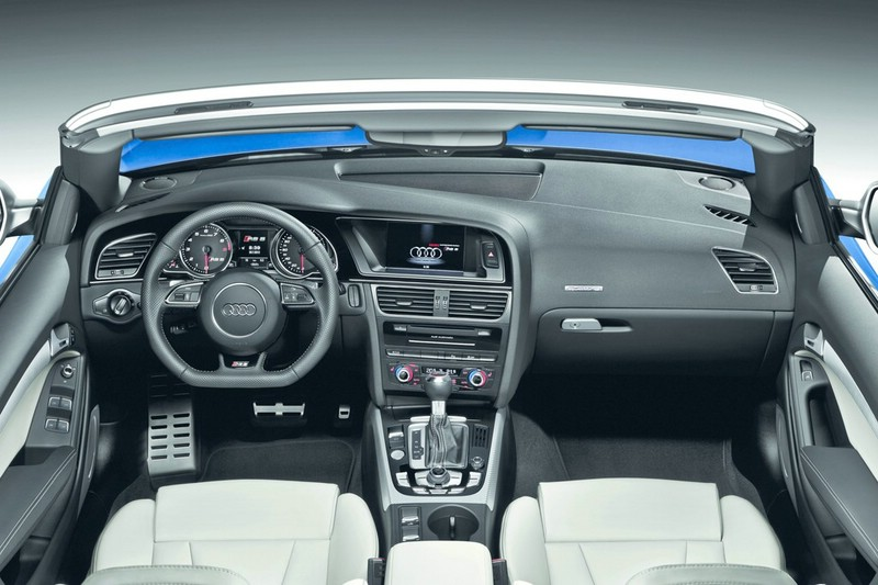 Das Armaturenbrett des Audi RS 5 Cabriolet