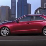 Die Seitenpartie des Cadillac ATS 2012
