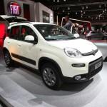 Weißer Fiat Panda Natural Power auf dem Pariser Autosalon 2012