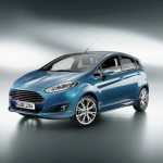 Ford Fiesta Modell 2013 in Blau-Metallic