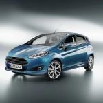 Ford Fiesta Modell 2013 in Blau-Metallic