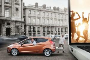 Neuer Ford Fiesta in der Seitenansicht