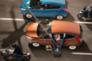 Ford Fiesta aus der Vogelperspektive