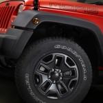 Die Felgen des Jeep Wrangler Moab