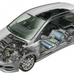 Das Antriebssystem des Mercedes-Benz B 200 Natural Gas Drive