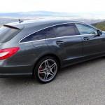 Die Heckpartie des Mercedes CLS 63 AMG Shooting Brake