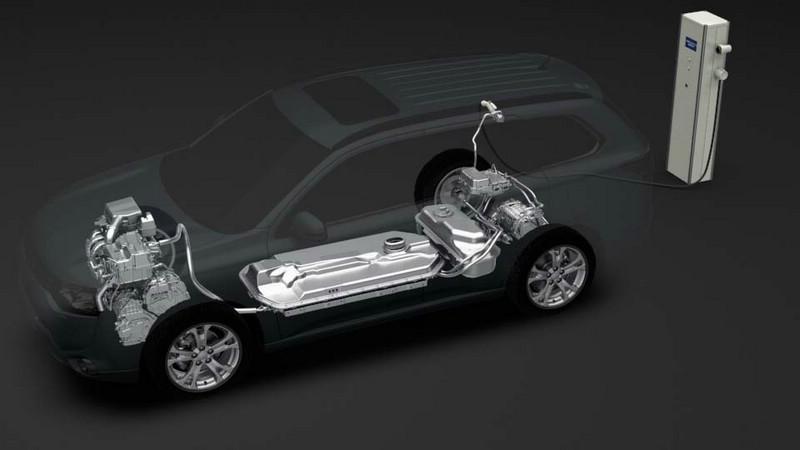 Elektroantrieb des Mitsubishi Outlander PHEV