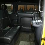 Der Innenraum des Nissan NV200 Yellow Cab