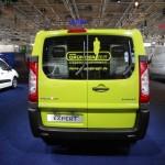 Das Heck des Peugeot Expert Gründertransporters