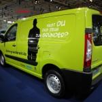 Die Heckpartie des Peugeot Expert Gründerautos