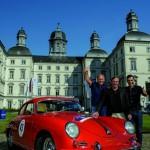 Porsche 356 B in Rot - Hans-Joachim Stuck, Günter Netzer und Erol Sander