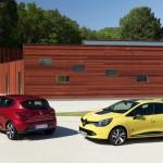 Renault Cliio Lackfarben: Rot und Gelb