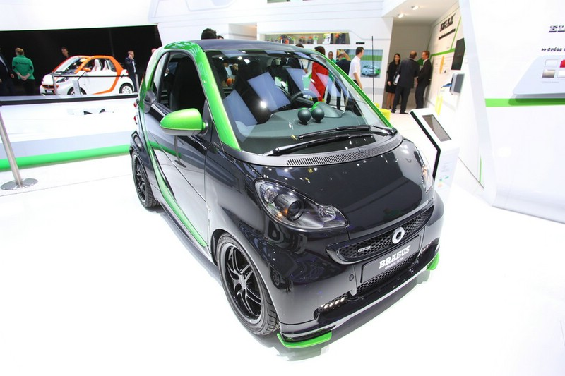 Smart Brabus Electric Drive in schwarz/grün