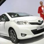 Toyota Yaris Trend in Weiß auf der Automesse in Paris