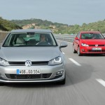 Der neue VW Golf in Silber und Rot