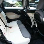 Die Rücksitzbank des Fiat 500L