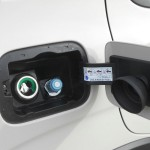 Die Tankklappe des Fiat Panda Natural Power