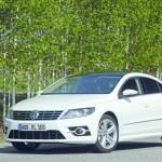 WWeißer VW CC mit R-Line Ausstattung