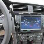 Das Navi im neuen VW Golf 7 - Mittelkonsole
