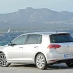 Neuer VW Golf 7 in der Heckansicht