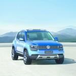 VW Taigun in Blau von vorne